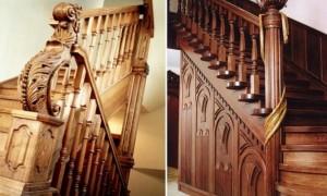 Балюстрада из дерева для лестниц: особенности и назначение конструкции, монтаж